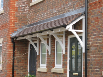 Timber door canopies - door canopy kits